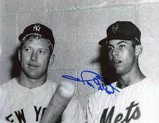 RON HUNT W/ MANTLE NEW YORK METS SIGNED AUTOGRAPHED 8x10 PHOTO W/COA