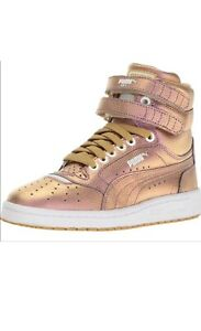 Puma Sky 2 Men's Size 11 Gold Hi Holographic Sneakers NEW 100% Authentic.