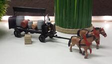 Pferdekutsche Kutsche HO Box 2425 Deichselgespann Eisenbahn Bauernhof Pferde