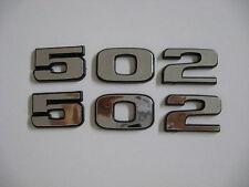CHEVROLET 502 STROKER ENGINE ID FENDER HOOD SCOOP QUARTER TRUNK EMBLEMS - SILVER