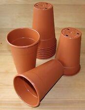 10 x Deep Lily Pots Soparco Plastic 11cm Orchid Seedling