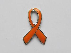 24 Enamel ORANGE Awareness RIBBON PINS lapel leukemia MS kidney cancer