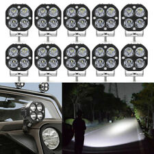 10PC 40W 3in LED Work Light Bar Spot Pods Offroad Fog Lamp SUV ATV Truck Driving