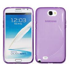 ACCESSOIRES HOUSSE ETUI COQUE SILICONE GEL S VIOLET Samsung Galaxy Note 2  N7100