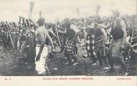 NZPC056) PC No. 3 Maori Life Series - Maoris Drilling, New Zealand,  unused, GC,