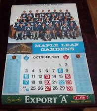 "Export ""A"" Toronto Maple Leaf Gardens 1970-71  Calendar NHL Hockey # 2"