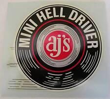 "1970s AJ's Mini Hell Driver 3"" Waterslide Decal"