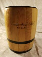 Canadian Club distillery Wood and plastic ice barrel bucket & Ceramic Pitcher