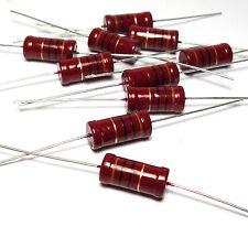 10x Widerstand Beyschlag 10 Ohm, 2W, f. Röhrenverstärker / Frequenzweichen, NOS