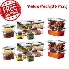 Rubbermaid Brilliance Food Storage Container Set 36-piece 2 SET VALUE PACK!