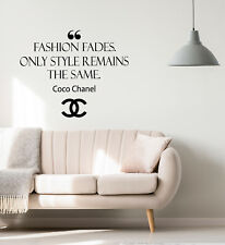 Vinyl Wall Decal Fashion Fades Remains Only Style Words Stickers (4310ig)