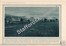 World War 1 Print 1915 British Biplanes Friedrichshafen Zeppelin Factory