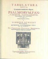 SAMUEL SCHEIDTS - TABULATURA NOVA Band 1 für Orgel und Klavier - gebunden