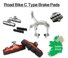 1 Pair C Type Road Bike Bicycle Brake Pads Blocks Cycling Rubber Aluminum Shoes