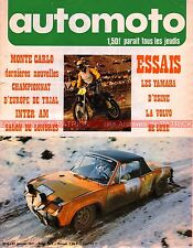 AUTO MOTO JOURNAL   2 YAMAHA TR2 350 TD2 250 VOLVO 142 S Luxe FORD GT 70 1971