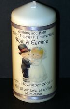 1st Wedding  Anniversary Candle gift with special personalised message #8