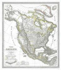 1841 Weiland Map of North America w / Republic of Texas