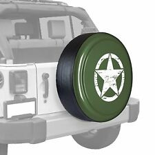 Oscar Mike Star - Painted  Tire Cover - Jeep Wrangler - Tank