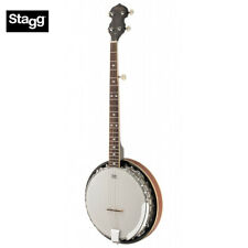 NEW Stagg BJM30 LH 5-String Bluegrass Banjo - LEFT HAND with REMO Heads