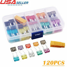 120pcs Small Blade Fuse Assortment Auto Car Van Motorcycle SUV FUSES Kit APM ATM