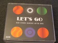 Let`s Go. Den Store Danske 60`er Box. 4 Cd`s. Great Danish pop rock of the 60`s.