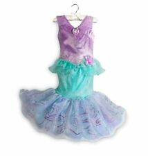 DISNEY STORE DELUXE PRINCESS ARIEL THE LITTLE MERMAID COSTUME DRESS SIZE 4 NWT