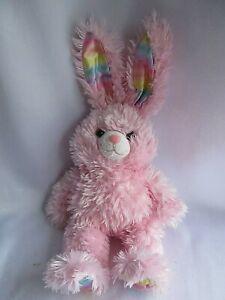 Build A Bear Pawsome Pink Bunny Pastel Rainbow Ears/Feet Talks  Easter Spring