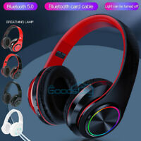 Wireless 3.5mm Gaming Headset LED Headphones With Mic Stereo For PC PS4 Xbox ONE