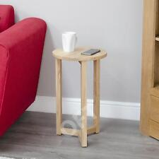 Boston Solid Oak Furniture Tall Round Lamp Side End Table