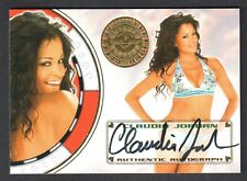 "BENCH WARMER ""VEGAS BABY"" 2012 Autograph Card Signed by CLAUDIA JORDAN"