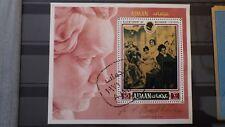 1x Bloc Sheet AJMAN Bicentenary Beethoven Perforated Cachet MNH**