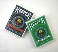 2 Decks Ellusionist Keeper Blue & Green Playing Card Decks Magic Poker Sealed
