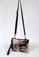 Real Cowhide Cross body Purse Handbag & Hand Clutch  Cow Hide Leather  SA-6649
