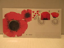2008 Great Britain Coin Cover 90th Anniversary Of World War1 WWI Royal Mint