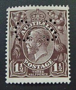 SG 068 - 1918 KGV Three Half Pence Black-brown Mint Stamp - OS - CV$100 - 346a