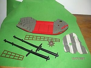 Lego 6289 Red Beard Runner Pirate Ship Spares:Hull,Mast,Rigging,Wheel,Sail etc.