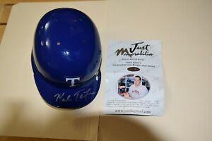 Mark Teixeira Texas Rangers signed mini helmet Just Minors Certified