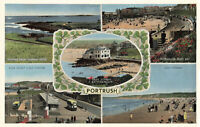 Lovely Rare Vintage Postcard - Portrush Town - Antrim, Northern Ireland.Unposted