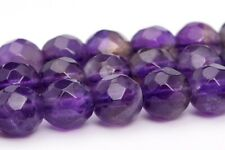4MM Natural Amethyst Gemstone Beads Grade AA Faceted Round Loose Beads 15