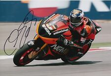 Colin Edwards Firmato a Mano NGM Mobile Forward Racing 12x8 foto MOTOGP 4.