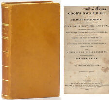 Cook's Own Book Boston Housekeeper 1832 first edition recipes confectionery