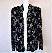 2PC Black and Silver Evening Jacket