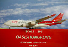 Hogan Wings 1:500 Boeing747-400 OASIS HONGKONG B-LFA LI8706+Herpa Wings Katalog