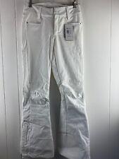NWT Roxy Creek White Stretch Waterproof Insulated Snow Pants Women's Size XS