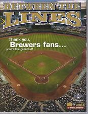 2004 Milwaukee Brewers Between the Lines magazine #5 Thank  you to the Fans.
