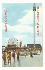 NJ Atlantic City New Jersey Sky Tower Beach Amusement Park Rides Hello From PC
