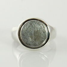 Unique Handcrafted Sterling Silver Gibeon Meteorite Ring Size 11