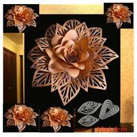 Stanzschablone 3D Blume Blatt Geschenk Weihnachten Hochzeit Oster Geburstag Deko