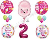 Two Sweet Cotton Candy 2nd Birthday Party Balloons Decoration Supplies Ice Cream