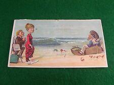 A.R. Glidden Fancy Goods Beach Painter Adoring Woman Old Sailor Dingy Crab Birds